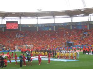 UEFA ME 2016   CZE-ESP, Toulouse. I sem se Galanka podívala