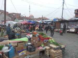 Trh v Prištině, Kosovo