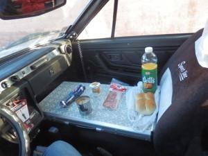 Moje klasická snídaně na cestě, tedy když zrovna nevyužiji pouličního snídaňového prodeje