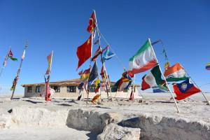 Vlaječky účastníků slavného klání
