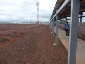 Letiště na Galapágách je spíše takové přírodní, respektující místní krajinu