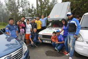 Večer jsem usnul na prázdné benzínce a ráno se probudil uprostřed Subaru srazu na pokraji Bogoty