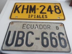 Nějaké suvenýry z Kolumbie a Ecuadoru do garáže