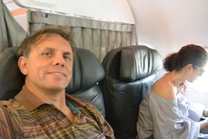 A hurá do Panamy, navíc mne letecká společnost posadila zdarma do první třídy.